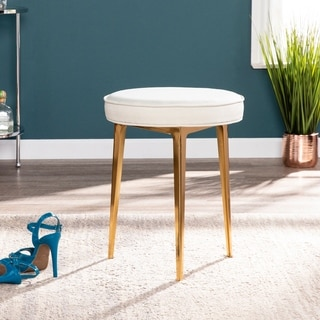 Silver Orchid Grant Warm Sand Small Space Stool