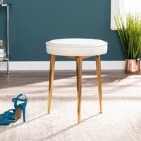 Silver Orchid Grant Iron-frame Warm Sand Space Saver Stool