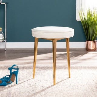 Silver Orchid Grant Warm Sand Small Space Stool (2 options available)