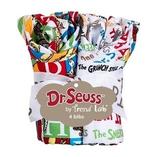 Dr. Seuss Alphabet Seuss 4 Pack Bib Set