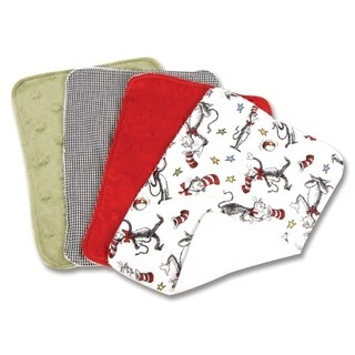 Dr. Seuss Cat in the Hat 4 Pack Burp Cloth Set