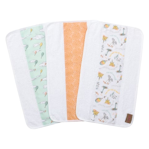 Dr. Seuss Oh, the Places You'll Go! 3 Pack Jumbo Burp Cloth Set