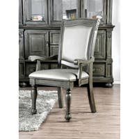 Furniture of America Shayson Traditional Grey Dining Arm Chair (Set of 2)