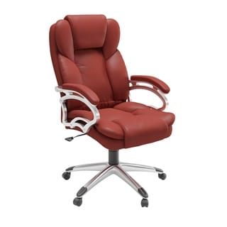 Porch & Den Robbins Brick Red Leatherette Office Chair