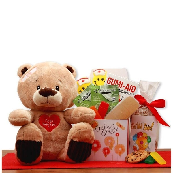 d3d417fb635 Shop Get Well Soon Teddy Bear Gift Set - Free Shipping Today - Overstock -  21452759