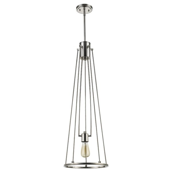 Acclaim Lighting Jade 1-Light Pendant in Polished Nickel