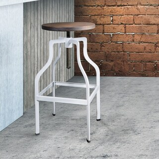 OSP Home Furnishings Regis 26 inch Counter Stool with Walnut Finish Seat