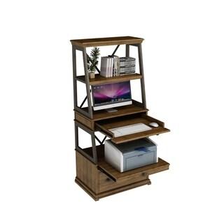 Weston Office Brown Wood Caddie Desk