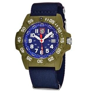 Luminox Men's XS.3507.PH 'Navy Seal' Grey Camouflage Dial Grey Camouflange Nylon Strap Time Date Swiss Quartz Watch