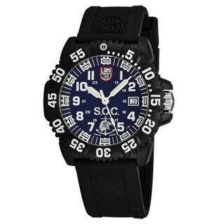 Luminox Men's XS.3053.SOC.SET 'Spec OPS Challenge' Blue Dial Black Rubber Strap Swiss Quartz Watch