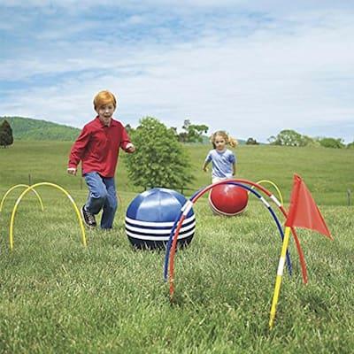 Kid Kick Croquet Set - Child Outdoor Kicking Games