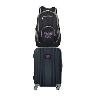 NCAA Washington Huskies 2 Piece Set Luggage and Backpack