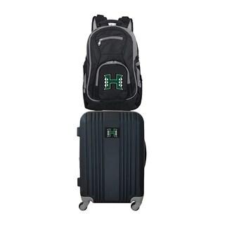 NCAA Hawaii Warriors 2 Piece Set Luggage and Backpack