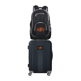NCAA Oklahoma State Cowboys 2 Piece Set Luggage and Backpack