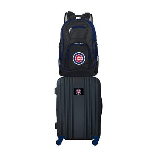 MLB Chicago Cubs 2 Piece Set Luggage and Backpack