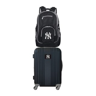 MLB New York Yankees 2 Piece Set Luggage and Backpack