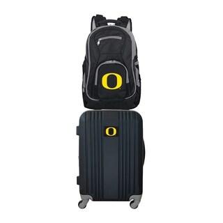 NCAA Oregon Ducks 2 Piece Set Luggage and Backpack