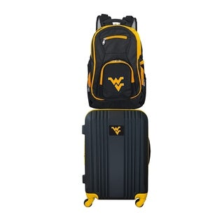 NCAA West Virginia Mountaineers 2 Piece Set Luggage and Backpack