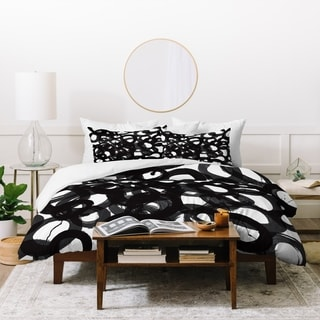 Kent Youngstrom Black Circles Duvet Cover Set