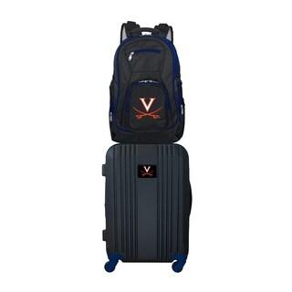 NCAA Virginia Cavaliers 2 Piece Set Luggage and Backpack