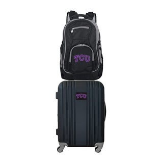 NCAA Texas Christian University Horned Frogs 2 Piece Set Luggage and Backpack