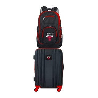 NBA Chicago Bulls 2 Piece Set Luggage and Backpack