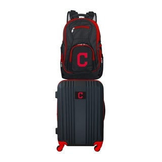 MLB Cleveland Indians 2 Piece Set Luggage and Backpack