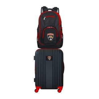NHL Florida Panthers 2 Piece Set Luggage and Backpack