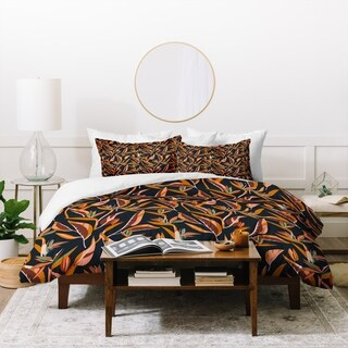 Holli Zollinger Anthology Of Pattern Elle Bird Of Paradise Dark Duvet Cover Set