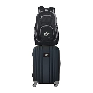 NHL Dallas Stars 2 Piece Set Luggage and Backpack