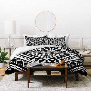 Amy Sia Tribe Black and White 2 Duvet Cover Set