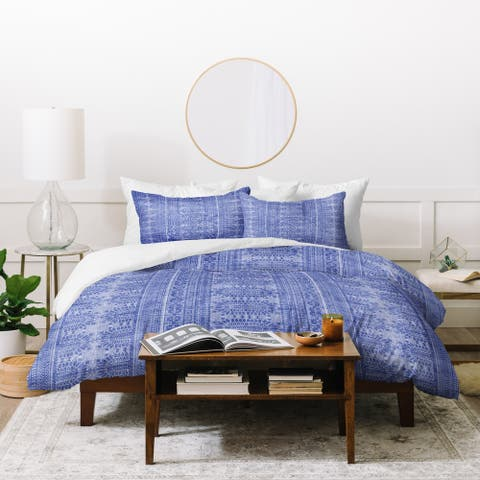 Deny Designs Dotted Bohemian Blue Duvet Cover Set