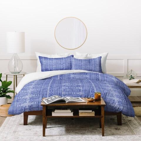 Deny Designs Dotted Bohemian Blue Duvet Cover Set