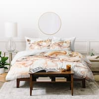 Marta Barragan Camarasa Abstract Pink Marble Mosaic Duvet Cover Set