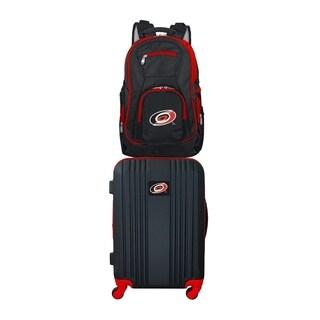 NHL Carolina Hurricanes 2 Piece Set Luggage and Backpack