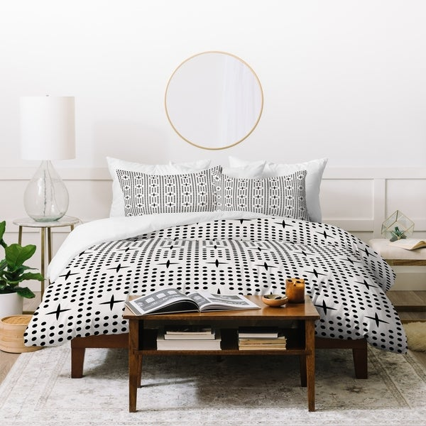 Holli Zollinger Dot And Plus Mudcloth Duvet Cover Set