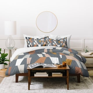 Link to Deny Designs Neutral Geometric Duvet Cover Set (3-Piece Set) Similar Items in Duvet Covers & Sets