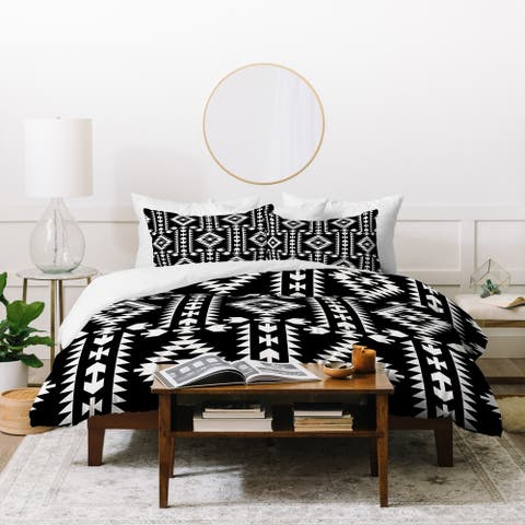 Deny Designs Geometric Panel Duvet Cover Set (3-Piece Set)