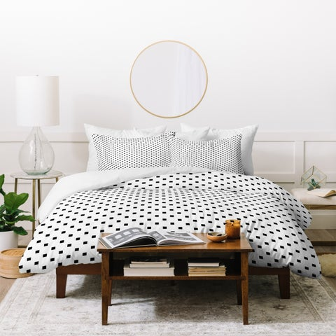 Deny Designs Polka Dot Squares Duvet Cover Set (3-Piece Set)