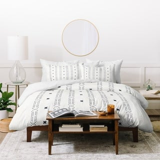 Deny Designs Striped Mala X Duvet Cover Set (3-Piece Set)