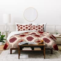 Allyson Johnson Bohemian Marsala ikat Duvet Cover Set