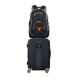 NCAA Texas Longhorns 2 Piece Set Luggage and Backpack