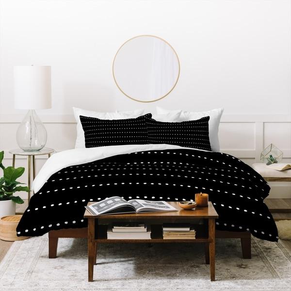 Deny Designs Dot Stripes Duvet Cover Set (3-Piece Set)