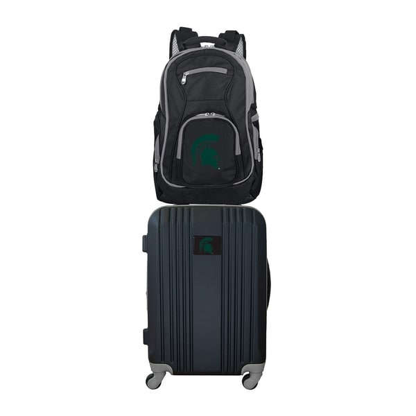 sale retailer 57cf3 aea1e Shop NCAA Michigan State Spartans 2 Piece Set Luggage and Backpack - Free  Shipping Today - Overstock - 21453995