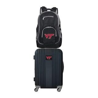NCAA Virginia Tech Hokies 2 Piece Set Luggage and Backpack