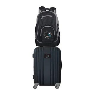 NHL San Jose Sharks 2 Piece Set Luggage and Backpack