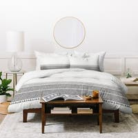 Holli Zollinger French Charcoal Tassel Duvet Cover Set