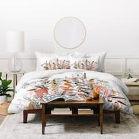 Iveta Abolina Lupines Cream Duvet Cover Set