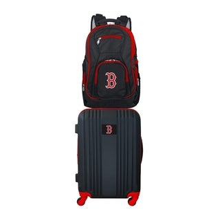 MLB Boston Red Sox 2 Piece Set Luggage and Backpack