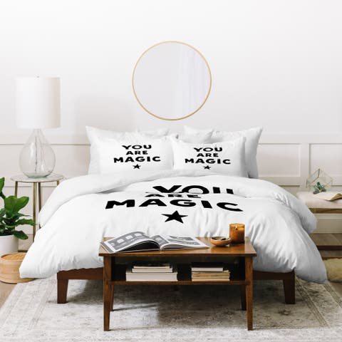 Little Arrow Design Co You Are Magic Monochrome Duvet Cover Set
